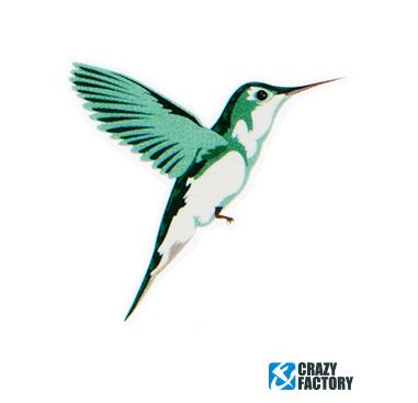 Falso tatuaje con colibri