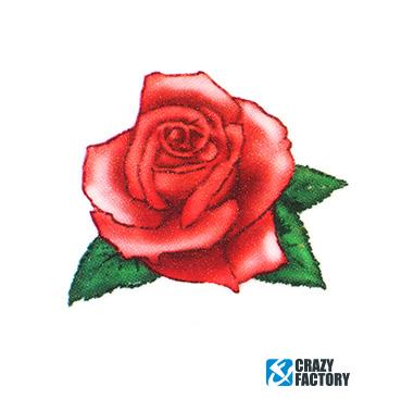 Временная татуировка с розой