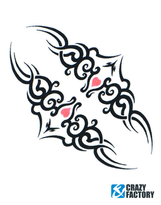 Zábavná tetování, Fun-Tattoo , Vodou oddělitelný přenosový papír, Inkoust