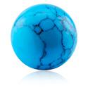 Pallot ja koristeet, Ball, Synthetic Turquoise Gemstone