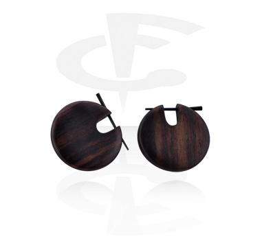 Boucles d'oreilles tribal en bois
