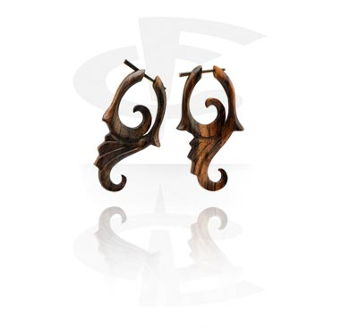 Tribal Wood Earrings (Sold by pair)