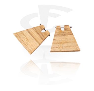 Tribal Wood brincos (Sold by pair)