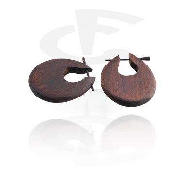 Naušnice, Earrings, Wood