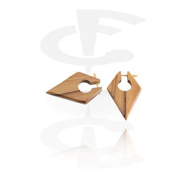Tribal Wood Earrings (Sold by pair)