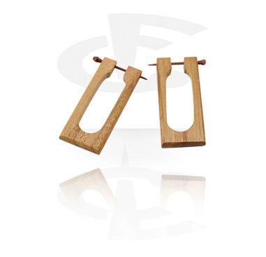 Naušnice, Earrings, Wood