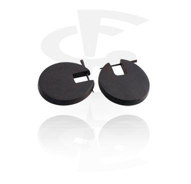 Earrings, Studs & Shields, Earrings, Wood
