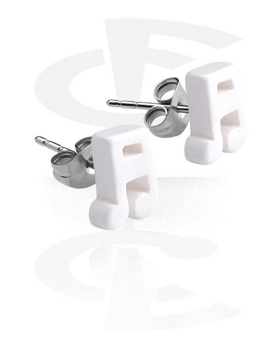 Kolczyki, Ear Studs, Stal chirurgiczna 316L, Akryl