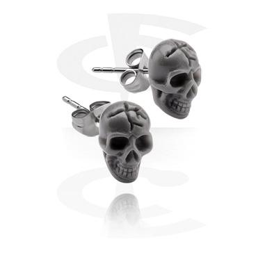 Studs d'oreilles avec tête de mort