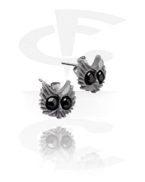 Ear Studs with Owl