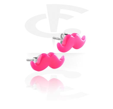 Ear Studs with Mustache