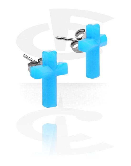 Örhängen, Öronstickor, Kirurgiskt stål 316L, Akryl