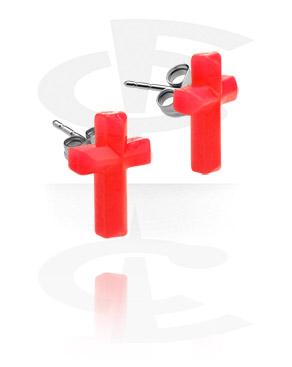 Studs de orelha com cruz