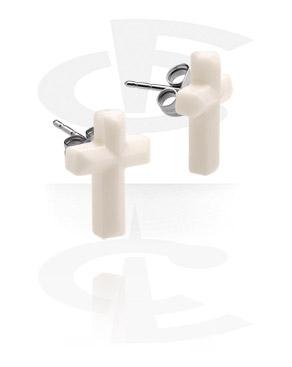 Studs d'oreilles avec croix
