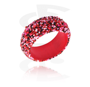 Bracelets, Fashion Bangle, Mixed Wood, Synthetic Pearl