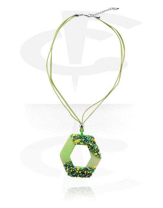 Necklaces, Fashion Necklace, Cotton, Wood