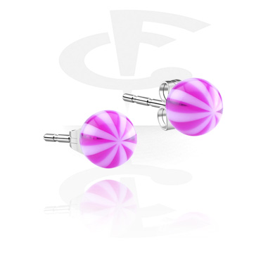 Stripy Ear Studs