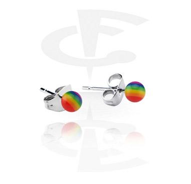 Rainbow Ear Studs