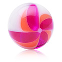 Balls & Replacement Ends, Threaded Ball –Twisted Flower, Acryl