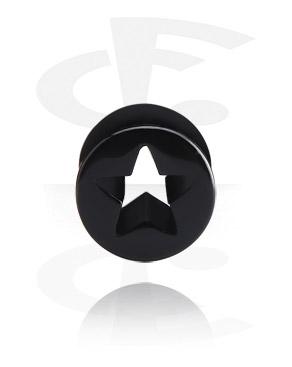 Tunely & plugy, Tunnel s star design, Acrylic