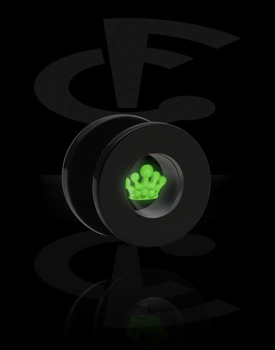"Tunnels & Plugs, Tunnel met ""Glow in the Dark"" Design, Acryl"