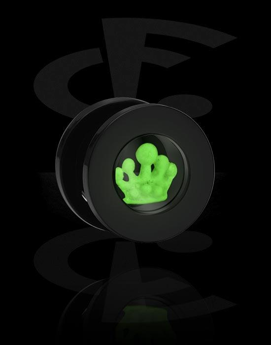 tunnel mit glow in the dark motiv acryl crazy factory piercing online shop. Black Bedroom Furniture Sets. Home Design Ideas