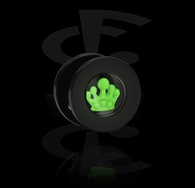 """Tunnel & Plug, Tunnel con disegno """"Glow in the dark"""", Acrilico"""