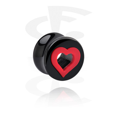 Hearts Playing Card Flared Plug