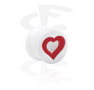 Hearts Playing Card Flared Plug