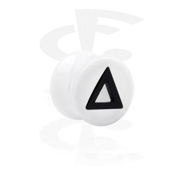 Tunele & plugi, Flared Plug with Triangle Cut-Out, Acrylic