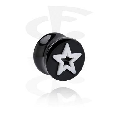 "Double Flared Plug ""estrela"""