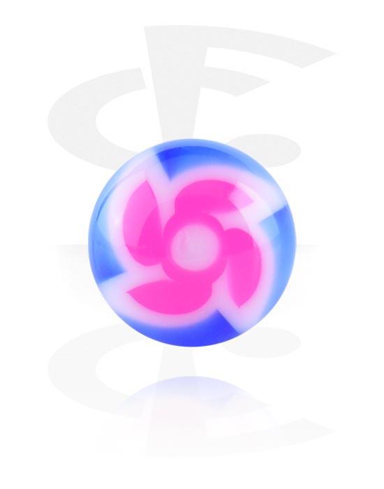 Kuličky, kolíčky a další, New Twister Flower Ball, Acryl