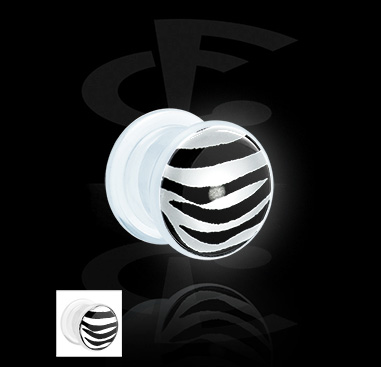 LED Plug mit Zebra-Muster