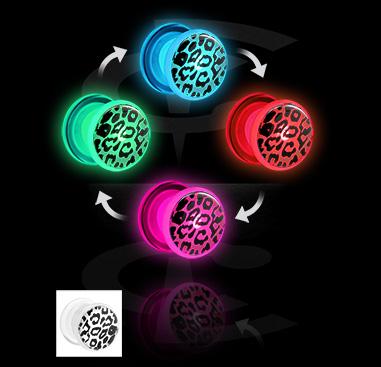 LED Plug com padrão chita