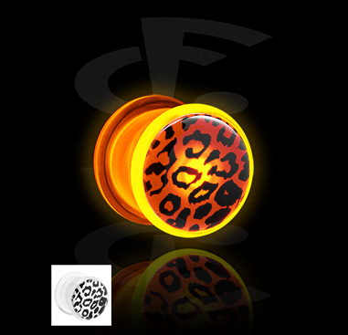 LED Plug with Cheetah Pattern