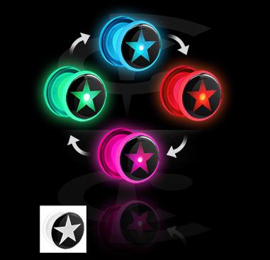 LED plug avec imprimé d´étoiles