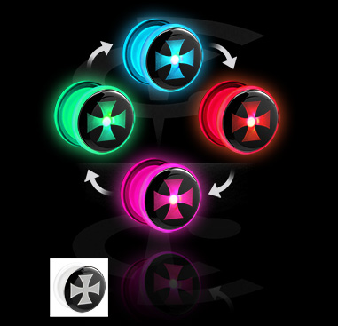 Tunnels & Plugs, LED Tunnel , Acryl