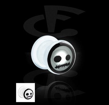 Tunnels & Plugs, LED Plug met patroon, Acryl