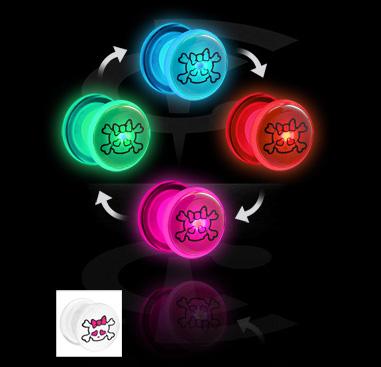 LED plug avec imprimé de tête de mort