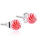 Naušnice, Ear Studs, Surgical Steel 316L, Acrylic