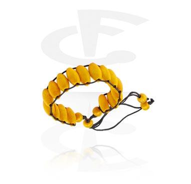 Bracelets, Fashion Bracelet, Mixed Wood, Wax Cord