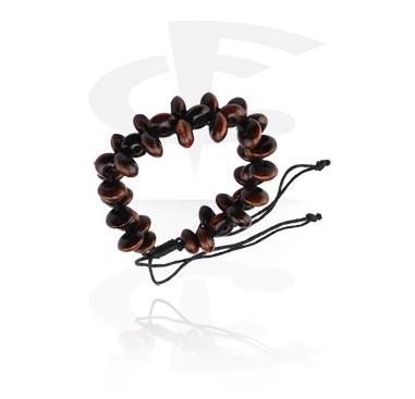 Rannekorut, Fashion Bracelet, Different types of Wood, Wax Cord