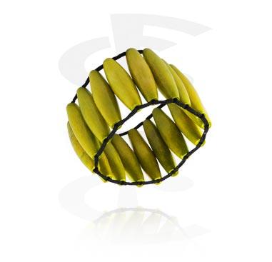 Rannekorut, Fashion Bracelet, Different types of Wood, Nylon Cord
