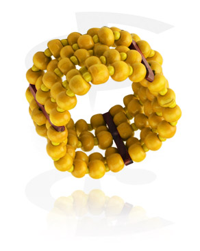 Náramky, Fashion Bracelet, Different types of Wood, Elastic Band