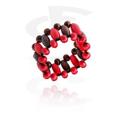 Bracelets, Fashion Bracelet, Mixed Wood, Nylon Cord