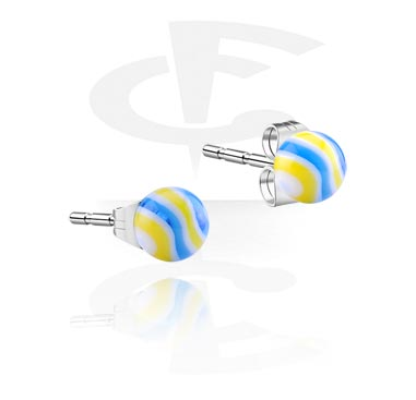 Wave Candy Ball Studs
