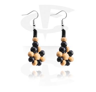 Náušnice, Earrings, Surgical Steel 316L, Wood