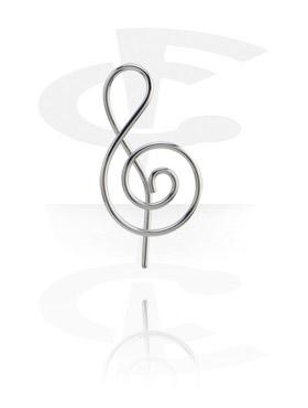 """Серьга - """"Музыкальный ключ"""""""