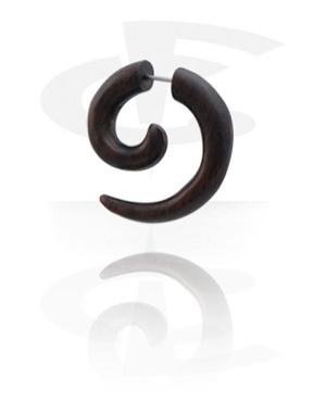 Spiral Fake Piercing (Black Rosewood)