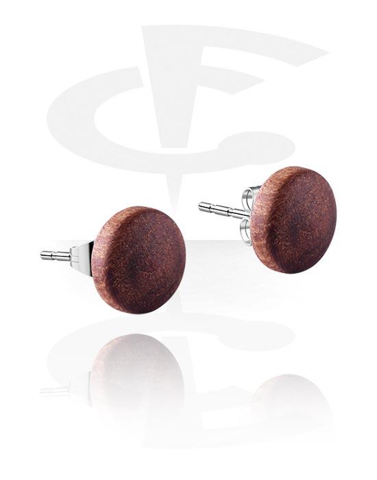 Naušnice, Ear Studs, Drvo